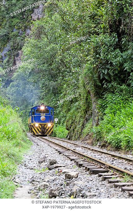 Train ride along Rio Vilcanota, PeruRail, Train from Ollantaytambo to Machu Picchu, Peru