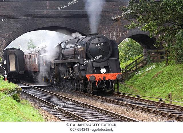 Steam Locomotive Black Prince