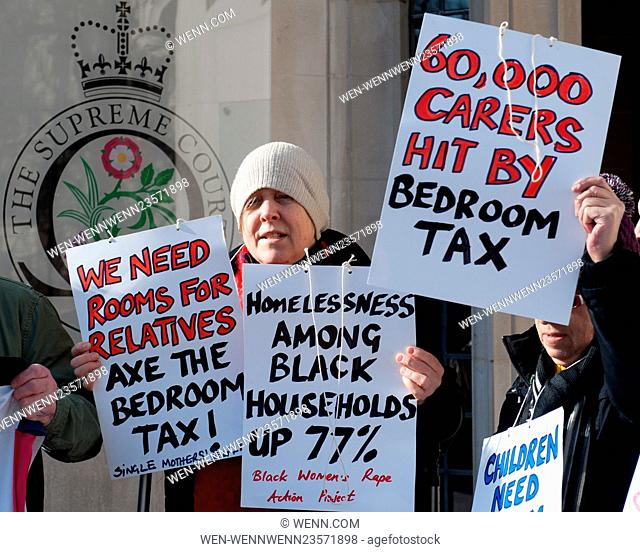 As Justices at the UK's highest court hear appeals over housing benefit regulations, members of protest groups such as Disabled People Against Cuts (DPAC)...