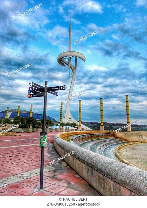 Olympic Park in Montjuic, Barcelona, Catalonia, Spain