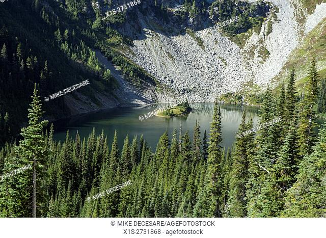 Maple Pass Trail in the North Cascades leads a hiker through Old Growth trees, Alpine Meadows, Wildflowers and Alpine Lakes
