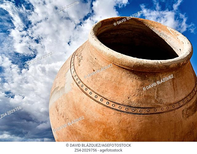 traditional jar for wine making in villarrobledo, albacete, castilla la mancha, spain