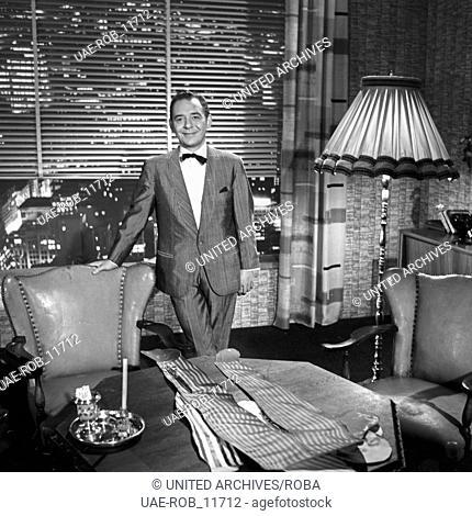 Hallo, Paulchen!, Musiksendung, Deutschland 1963, Regie: Harald Vock, Moderator und Gastgeber Paul Kuhn