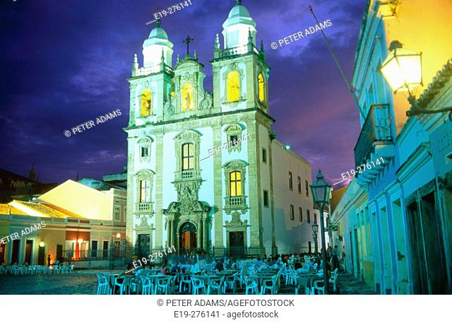 Church of Sao Pedro dos Clerigos in 'Sao Pedro' Square. Recife. Pernambuco. Brazil
