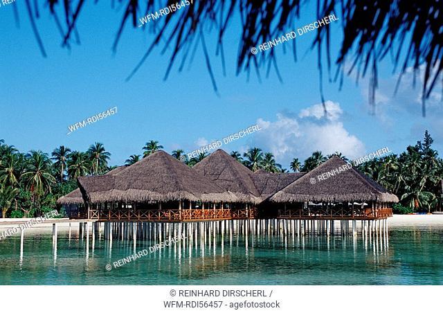 Beachbar on Maldivian Island, Indian Ocean, Medhufushi, Meemu Atoll, Maldives