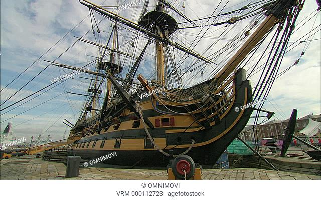 HMS Victory with canon in foreground