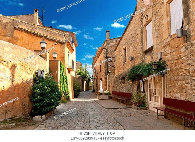 Street in Peratallada, Spain
