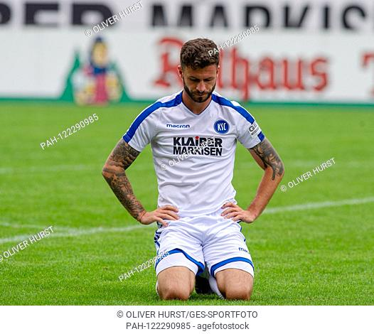 Marco Djuricin (KSC) GES / Football / KSC Blitz Tournament: Karlsruher SC - Hertha BSC Berlin, 13.07.2019 Football / Soccer: Short time Tournament: Karlsruhe vs...