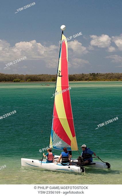 Sailing in Pumicestone Passage, Caloundra, Sunshine Coast