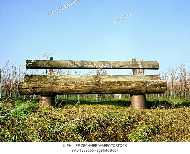 Bench in the vineyards
