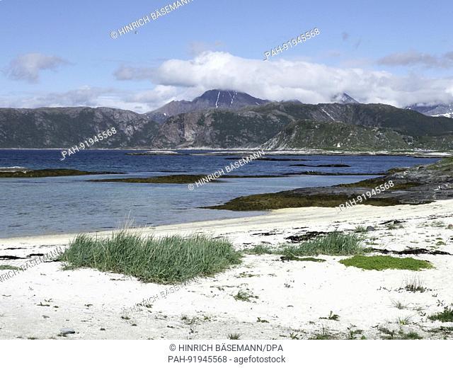 beach in northern Norway, june 2017 | usage worldwide. - Sommaröy/Troms/Norway