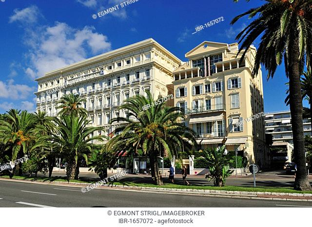 Magnificent historic building at the Promenade des Anglais, Nice, Department Alpes-Maritimes, Region Provence-Alpes-Côte d'Azur, France, Europe