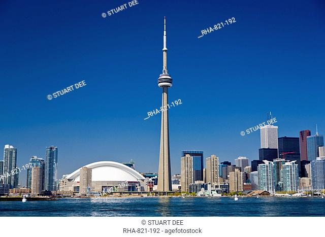 City skyline showing CN Tower, Toronto, Ontario, Canada, North America