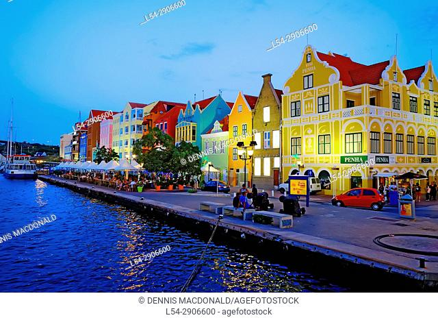 Handelskade Merchant Houses Willemstad Curaçao Dutch Caribbean Island Netherlands Southern Caribbean Island Cruise from Miami Florida