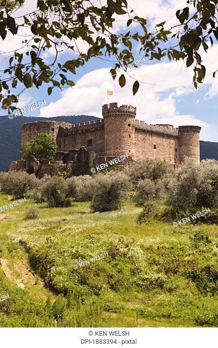 15Th Century Castle Of The Duke Of Alburquerque, Mombeltran, Avila Province, Spain
