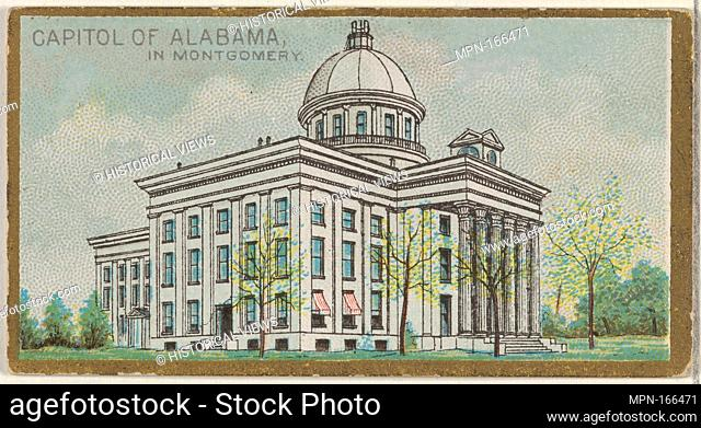 Capitol of Alabama in Montgomery, from the General Government and State Capitol Buildings series (N14) for Allen & Ginter Cigarettes Brands
