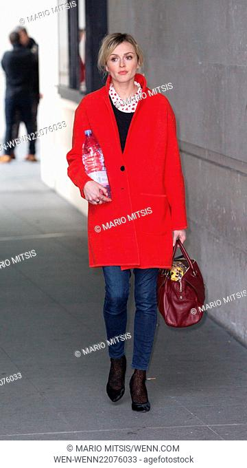 Fearne Cotton leaving the BBC studios at Portland Place after hosting her morning show 'Live Lounge' on Radio 1 Featuring: Fearne Cotton Where: London