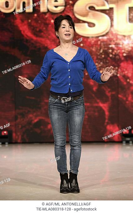 Nathalie Guetta During Dancing With The Stars Tv Show Rome Italy