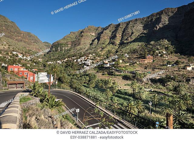 La Gomera landscape, Cliff in Valle Gran Rey. Canary islands, Spain