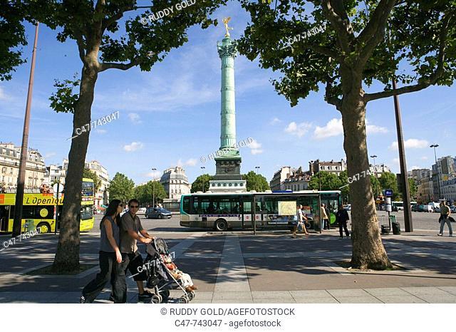 Place de la Bastille. Paris. France