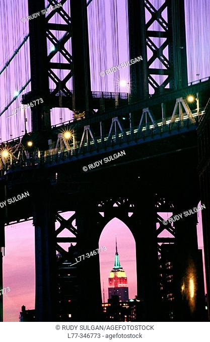 Manhattan Bridge. New York City, USA