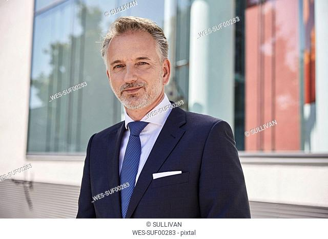 Portrait of content businessman