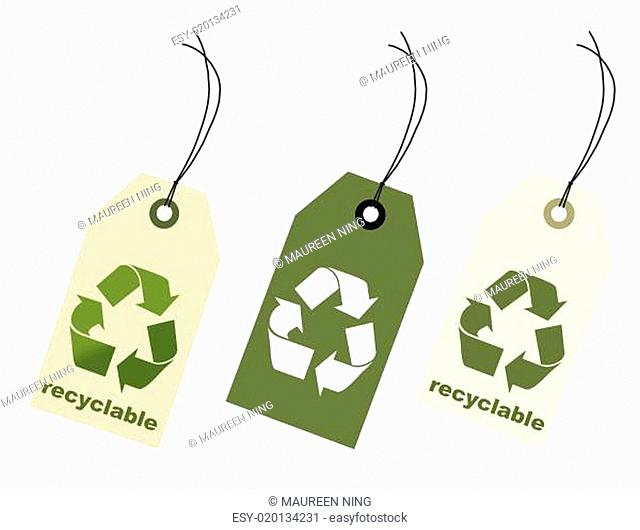 100 percent recycle item tags