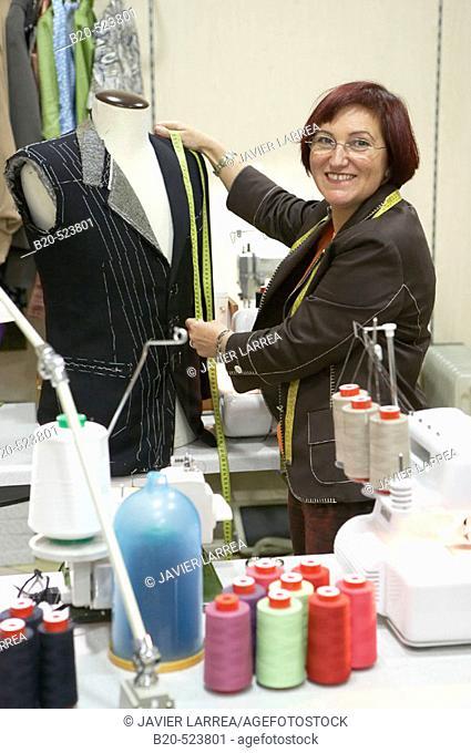 Dressmaking workshop, clothes arrangements. Retail. Elgoibar, Gipuzkoa, Euskadi. Spain