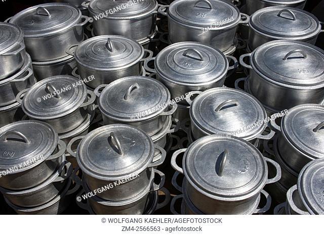 Pots for sale on market in Antsiranana (Diego Suarez), Madagascar