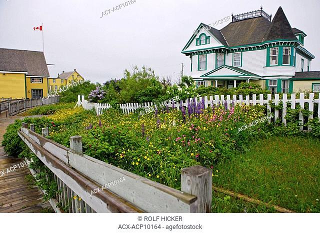 The exterior of the Alphaeus Barbour House at the Barbour Living Heritage Village, Newtown, Bonavista Bay, Road to the Shore, Newfoundland & Labrador, Canada