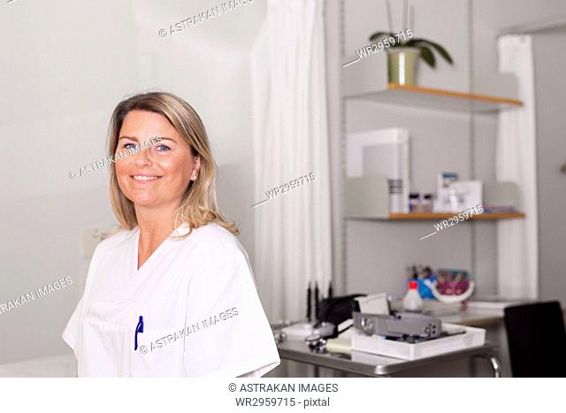 Doctor in examination room