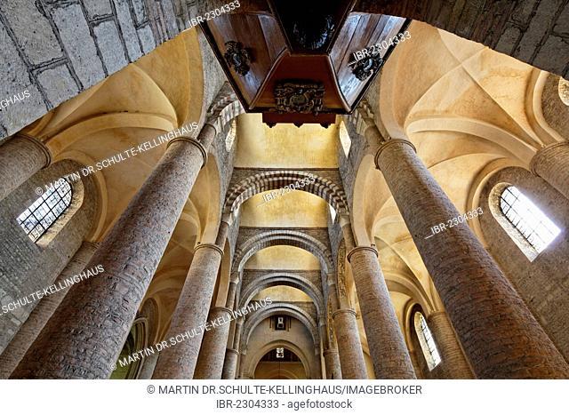 Abbey Church of St. Philibert, Tournus, Burgundy region, Saône-et-Loire department, France, Europe