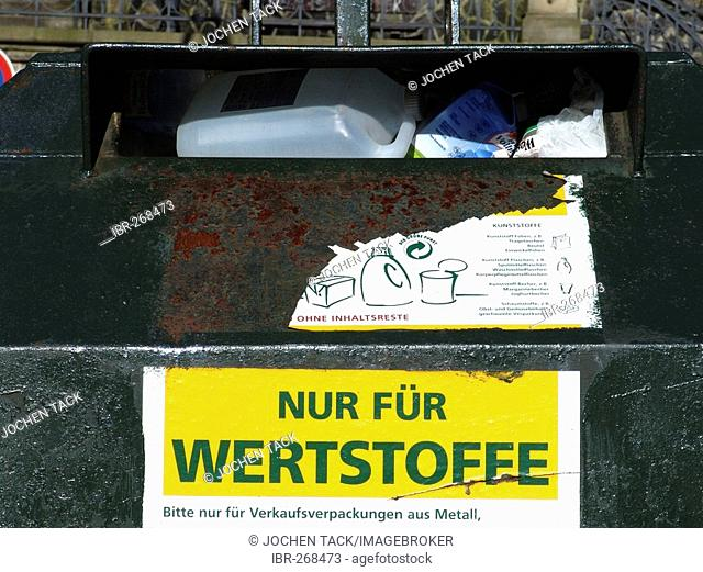 Container for recyclable materials, Hamburg, Germany