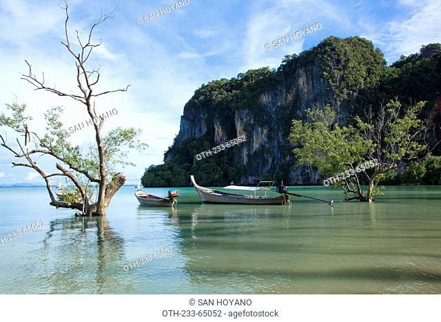 Hat Rai Le East Beach, Krabi Island, Phuket area, Thailand