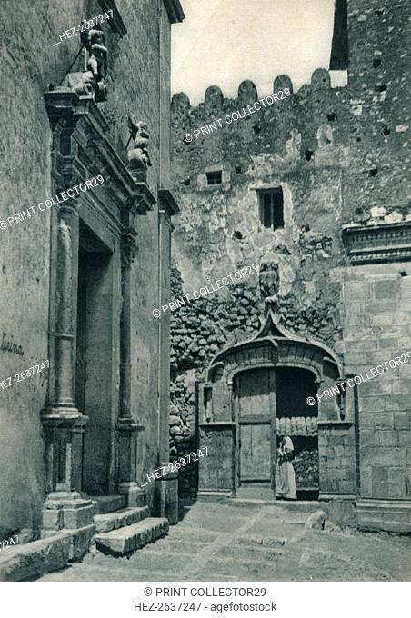 Entrance of a church, Taormina, Sicily, Italy, 1927. Artist: Eugen Poppel
