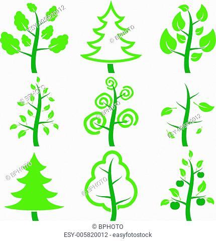 Set icons trees