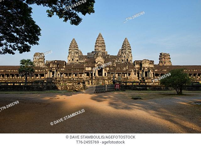 Morning light at Angkor Wat in Siem Reap, Cambodia