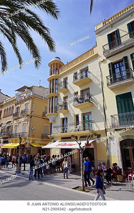Seafront Promenade. Sitges, Barcelona, Catalonia, Spain, Europe