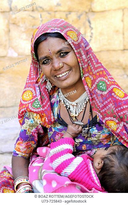 Portrait of a beautiful Rajasthani woman