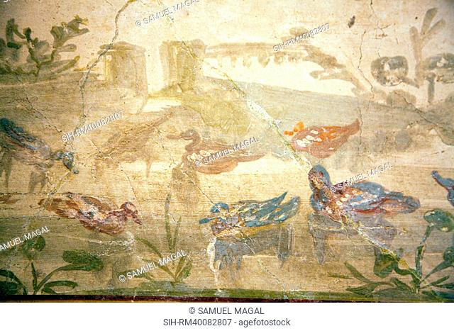 Italy, Naples, Naples Museum, Herculaneum, House of the Deer IV, 21, Landscape Nilea