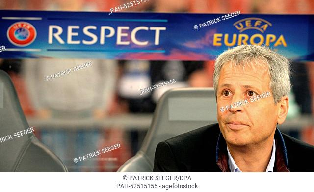 Coach Lucien Favre of Moenchengladbach before the UEFA Europa League group A soccer match between FC Zurich and Borussia Moenchengladbach at the Letzigrund...