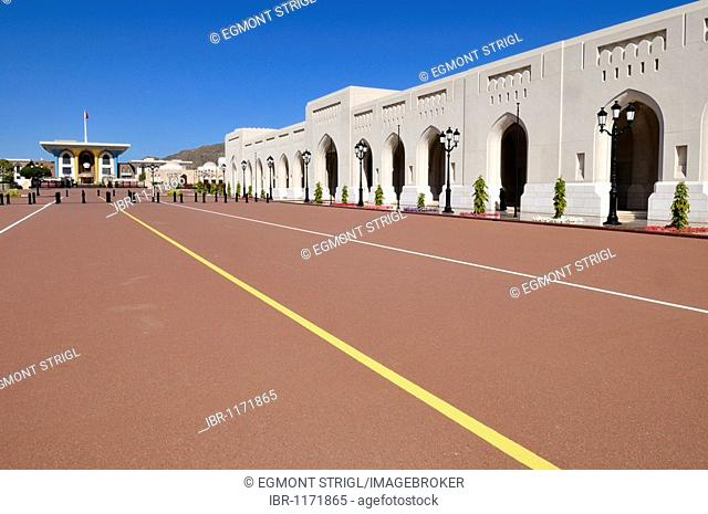 Al Alam Palace of Sultan Qaboos, Muscat, Sultanate of Oman, Arabia, Middle East