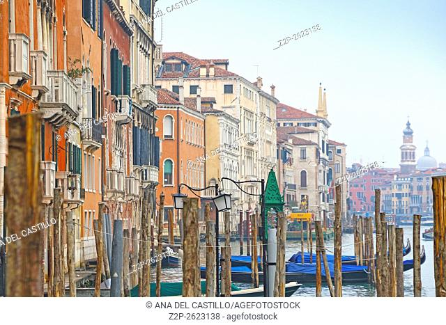 Canal Grande on January 24, 2016 in Venice, Italy