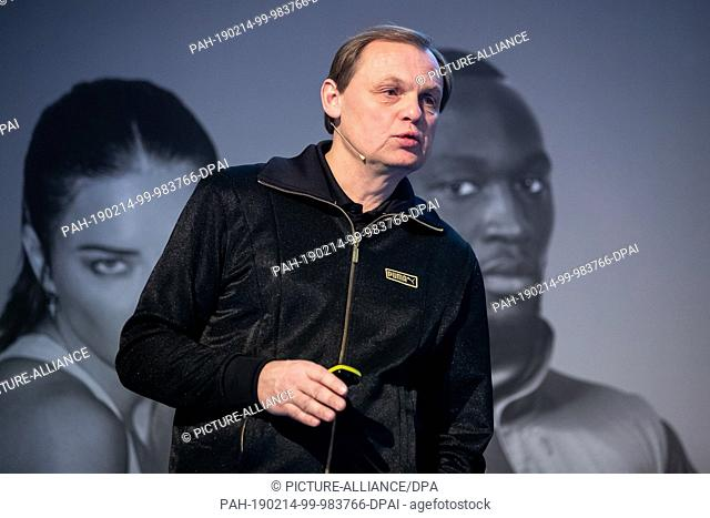14 February 2019, Bavaria, Herzogenaurach: Björn Gulden, Chairman and Managing Director of the sporting goods manufacturer Puma SE