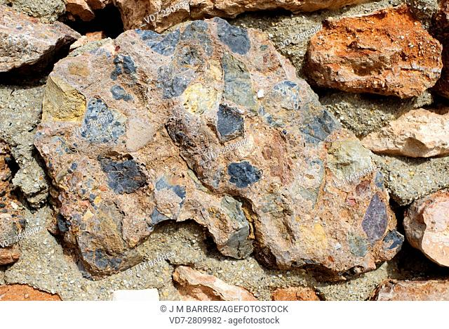 Breccia is a clastic sedimentary rock composed of broken fragments of rocks or minerals cemented by a fine matrix. Unlike the conglomerate the fragments of...