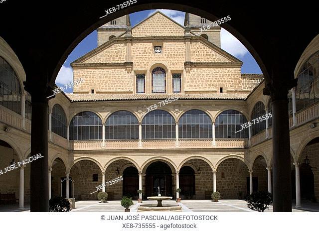 Courtyard of Hospital de Santiago (16th century), Ubeda. Jaen province, Andalucia, Spain