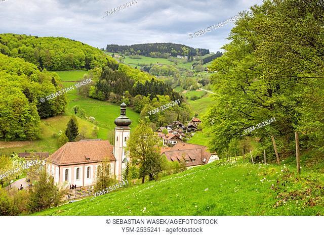 Monastery Church of Sankt Ulrich, Black Forest, Baden-Württemberg, Germany
