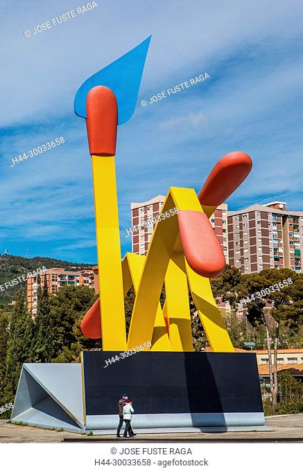 Barcelona City, Claes Oldenburg, Horta Distric, Matches Sculpture, spain