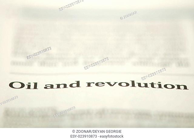 Oil and revolution text