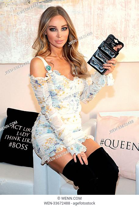 Lauren Pope at the launch of the SOSU By SJ Lauren Pope Faux Mink Lash Collection at the Cliff Townhouse ,Dublin Business woman Suzanne Jackson hosted a...